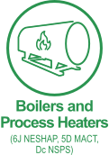 Boilers and Process Heaters (6J NESHAP, 5D MACT, Dc NSPS)