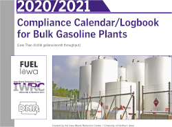 Image of Iowa's 2021 calendar/logbook for bulk gasoline plants
