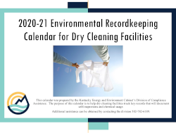 Image of Kentucky's Perc Dry Cleaner Compliance Calendar