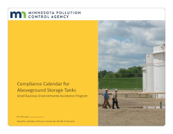 Image of Minnesota's Compliance Calendar for above ground storage tanks