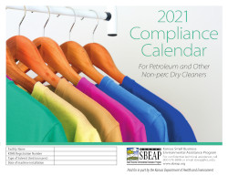 Image of Kansas's Dry Cleaner Compliance Calendar