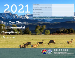 Image of Colorado's Perc Dry Cleaner Compliance Calendar