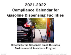 Image of Wisconsin's 2012 Calendar for gasoline dispensing facilities