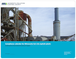 Image of Minnesota's Compliance Calendar for hot asphalt mix