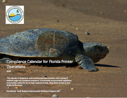 Image of Florida's Compliance Calendar for Printer Operations